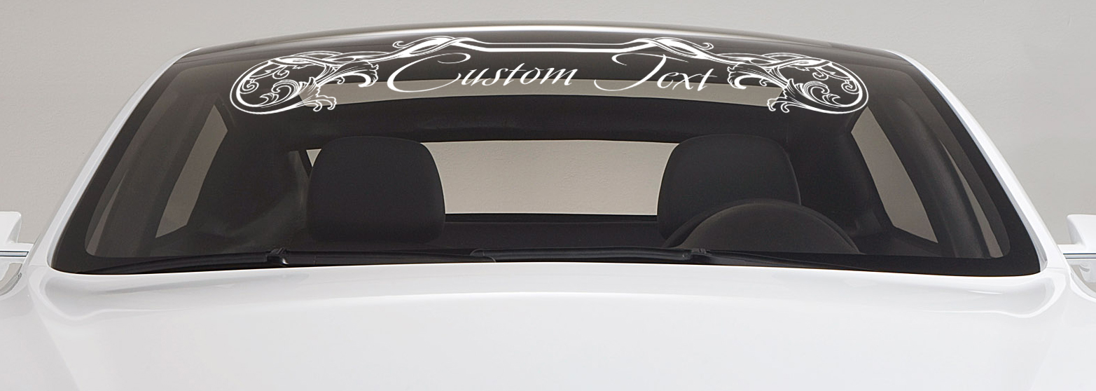 Custom Text Tribal Personal Strip JDM Drift Car Windshield Vinyl Sticker Decal